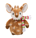DOUGLAS PLUSH CUDDLE TOY HOLIDAY DELIGHT - FAWN WITH SCARF