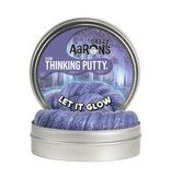 "THINKPLAY CRAZY AARON'S THINKING PUTTY 4"" TIN LET IT GLOW"