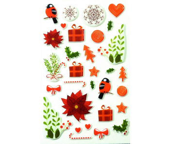 Cooky Sticker Pack:  Traditional Christmas