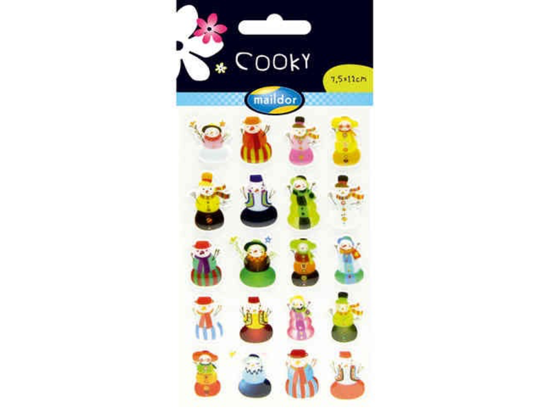 THINKPLAY COOKY STICKER PACK: SNOWMEN