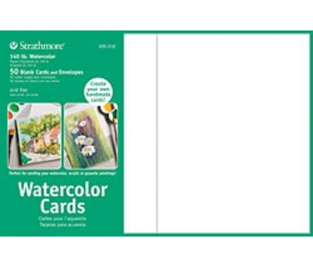 STRATHMORE WATERCOLOR CARDS 140LB 50PK