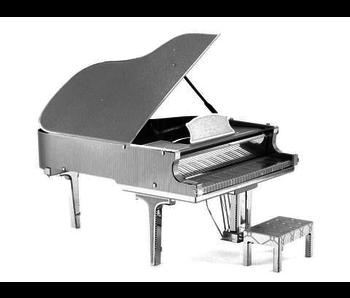 METAL EARTH 3D MODEL SILVER: GRAND PIANO