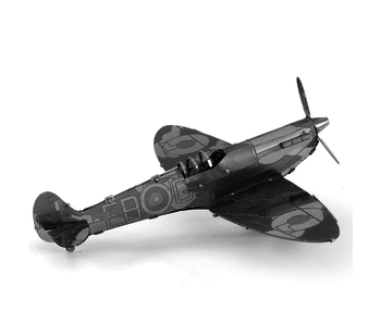 METAL EARTH 3D MODEL SILVER: WWII SUPERMARINE SPITFIRE
