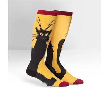 SOCK IT TO ME: STRETCHY KNEE HIGH SOCKS - CHAT NOIR