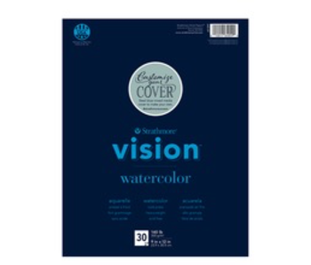 STRATHMORE VISION RECYCLED WATERCOLOR PAD 11x15 140LB