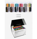 Karin Brushmarker Pro Mega Box 72 Colours + 3 Blenders Set (Includes New Neons)