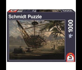 Schmidt Puzzle 1000 Ship At Anchor