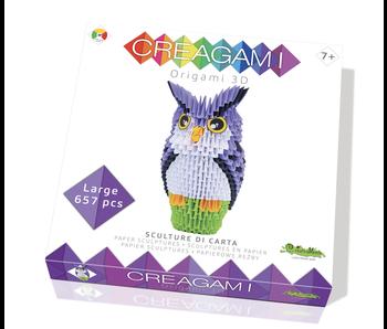 Creagami Paper Sculpture Owl