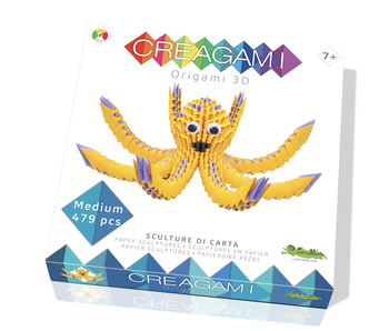 Creagami Paper Sculpture Octopus