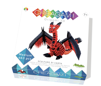 Creagami Paper Sculpture Dragon