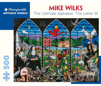 POMEGRANATE ARTPIECE PUZZLE 500 PIECE: MIKE WILKS THE ULTIMATE ALPHABET: THE LETTER W