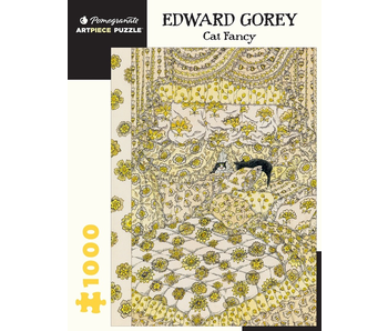 POMEGRANATE ARTPIECE PUZZLE 1000 PIECE: EDWARD GOREY CAT FANCY