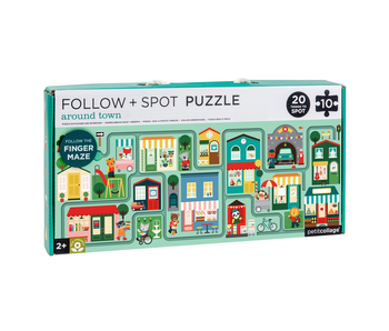 PETITCOLLAGE FOLLOW + SPOT PUZZLE: AROUND TOWN