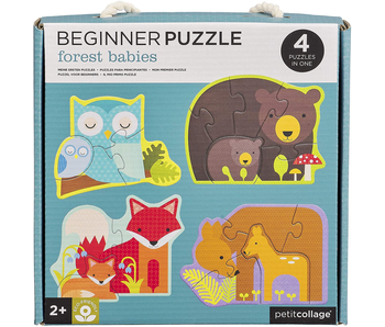 PETITCOLLAGE BEGINNER PUZZLE: FOREST BABIES