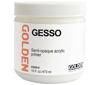 Golden Medium 16Oz Gesso Acrylic Primer