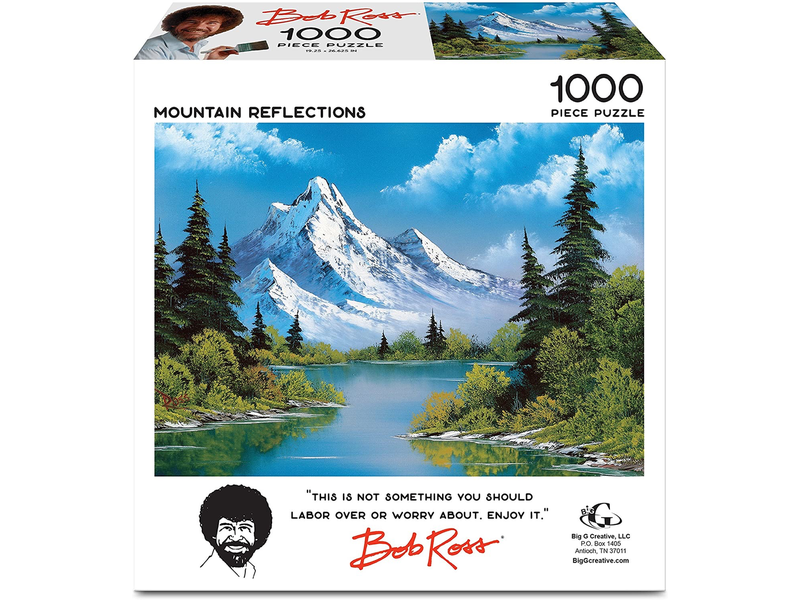 THINKPLAY Bob Ross Jigsaw Puzzle: Mountain Reflections