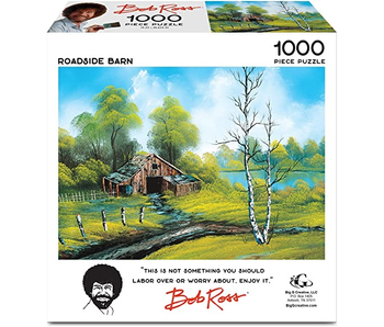 Bob Ross Jigsaw Puzzle: Roadside Barn