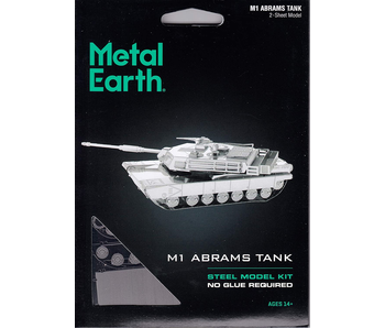 METAL EARTH 3D MODEL SILVER: M1 ABRAMS TANK
