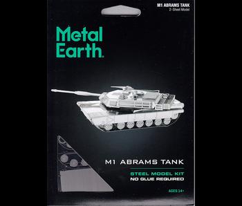METAL EARTH 3D MODEL SILVER: M1 ABRAMS TANK