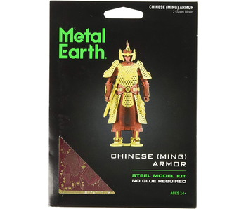 METAL EARTH 3D MODEL SILVER: CHINESE (MING) ARMOR
