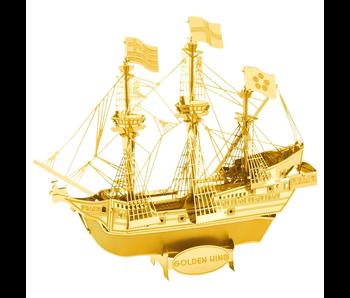 Metal Earth 3D Model : Golden Colour Golden Hind