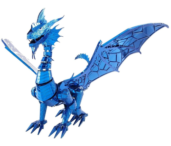 Metal Earth 3D Model : Iconx Blue Dragon Metal Model Kit
