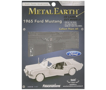 METAL EARTH 3D MODEL SILVER: 1965 FORD MUSTANG