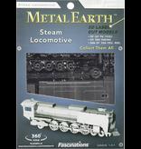 THINKPLAY METAL EARTH 3D MODEL SILVER: STEAM LOCOMOTIVE