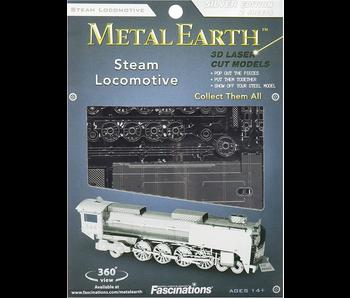 METAL EARTH 3D MODEL SILVER: STEAM LOCOMOTIVE