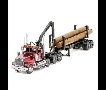 Metal Earth 3D Model Log Truck & Trailer