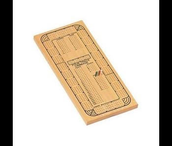 WE GAMES - CRIBBAGE BOARD, 4 TRACK - NATURAL