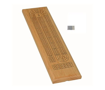 WE GAMES - CRIBBAGE BOARD, 3 TRACK - CLASSIC