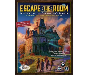 ESCAPE THE ROOM: MYSTERY AT THE STARGAZER'S MANOR - PARTY GAME FOR 3-8 PLAYERS