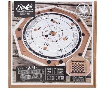 Rustik Crokinole & Checkers Board