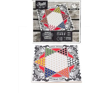 RUSTIK CHINESE CHECKERS BOARD