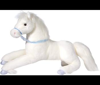 DOUGLAS CUDDLE TOY PLUSH FILOMENA WHITE HORSE, LARGE