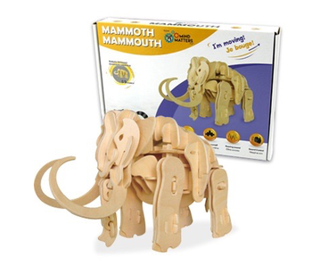 Mind Matters Robotic Wooden Dinosaur: Walking Mammoth