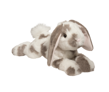 DOUGLAS CUDDLE TOY PLUSH RAMSEY GRAY SPOTTED BUNNY