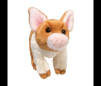 DOUGLAS CUDDLE TOY PLUSH MELVIN PIG W/ RUST PATCH