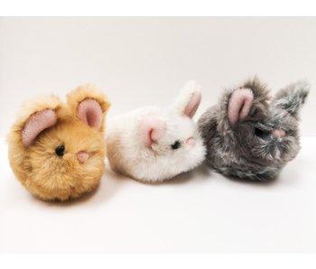 Douglas Cuddle Toy Plush Lil' Bitty Bunny Gray/Cream/Golden Mystery Item