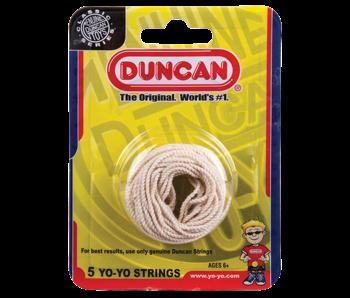 Duncan Yo-Yo string white. Five per pack