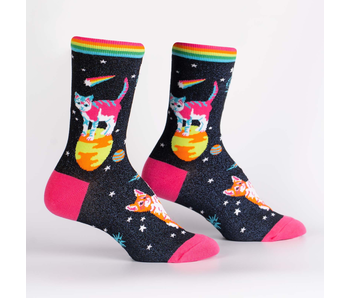 SOCK IT TO ME: WOMEN'S CREW SOCKS SPACE CATS
