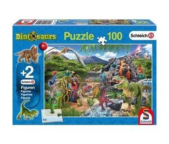 Schmidt Puzzle: Child 100 Piece Kingdom of the Dinosaurs