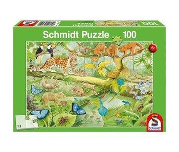 Schmidt Puzzle: 100 Piece Animals In The Jungle