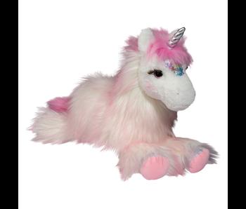 Douglas Cuddle Toy Plush Zuri Pink Unicorn Fur Fuzzle