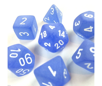 Chessex Frosted 7pc Blue/White