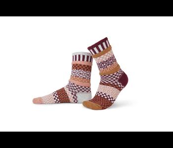 Solmate Socks Adult Crew Amaranth Medium