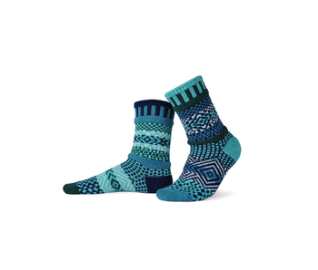 Solmate Socks Adult Crew Evergreen Small