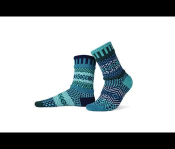Solmate Socks Adult Crew Evergreen Small