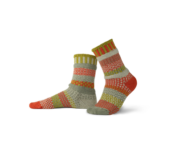 Solmate Socks Adult Crew Desert Rose Small